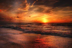 שקיעה בים